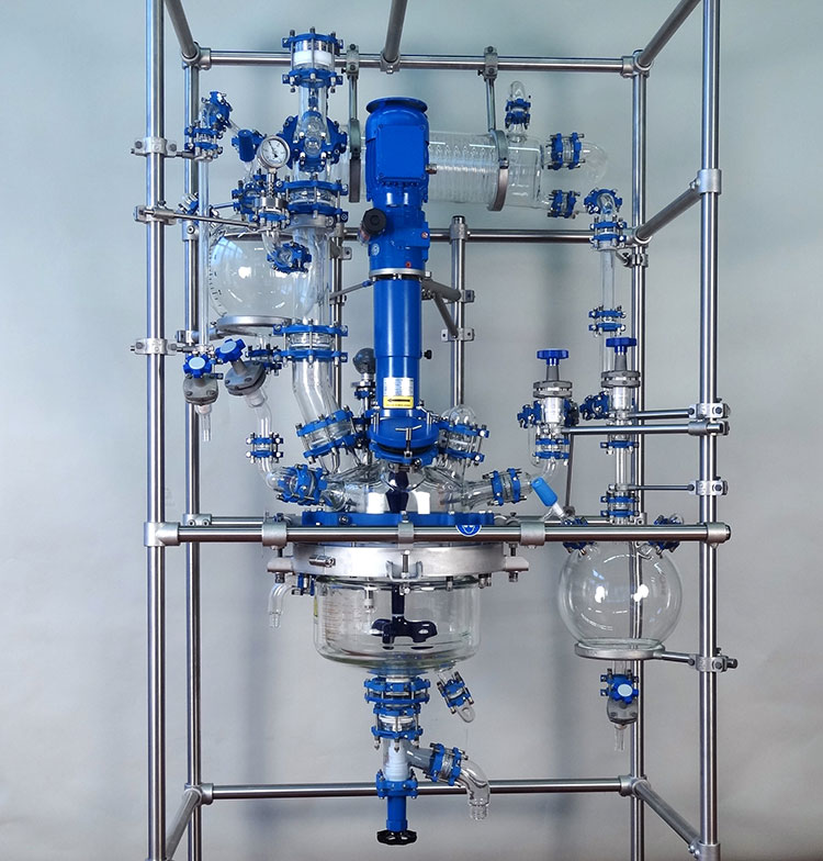 BR15 Basic 15 Litre Glass Jacketed Reactor with Distillation