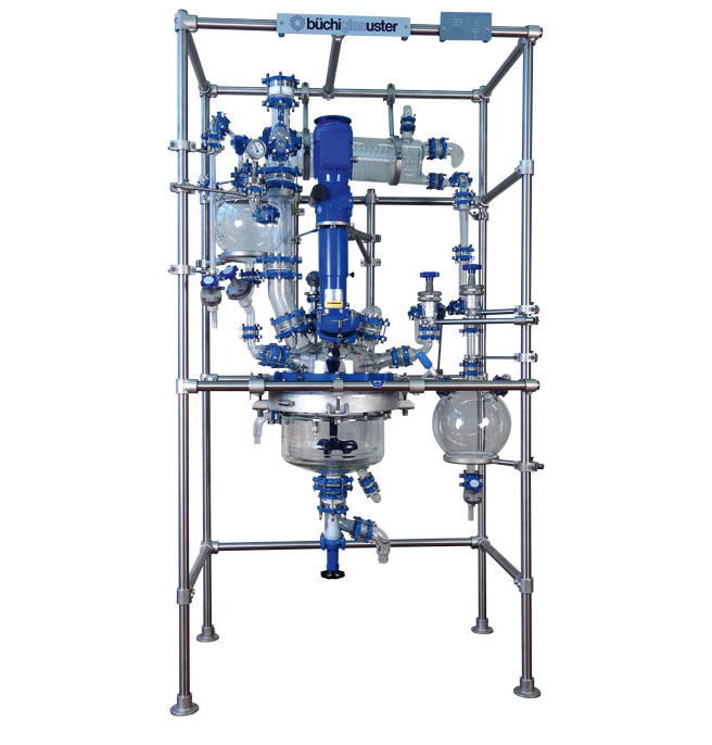 BR30 Basic Glass Jacketed Reactor with Distillation